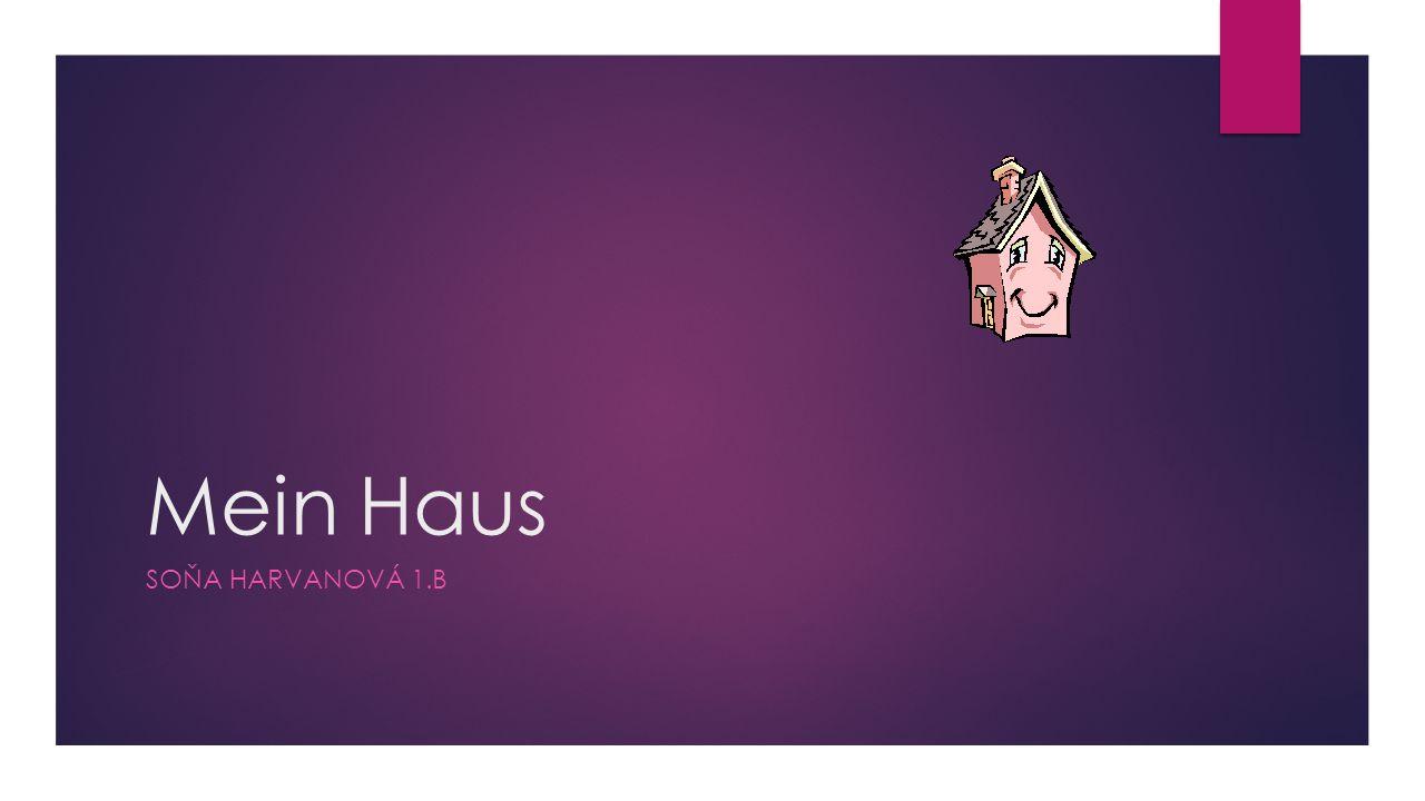Mein Haus SOŇA HARVANOVÁ 1.B