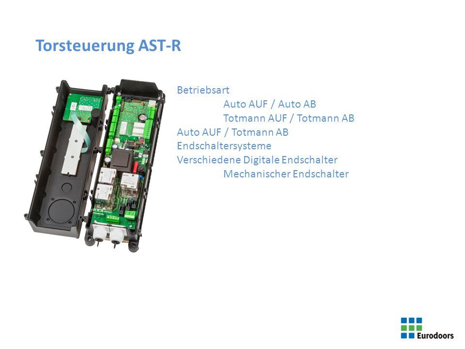 Torsteuerung AST-R Betriebsart Auto AUF / Auto AB Totmann AUF / Totmann AB Auto AUF / Totmann AB Endschaltersysteme Verschiedene Digitale Endschalter