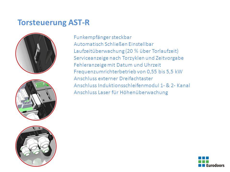 Torsteuerung AST-R Funkempfänger steckbar Automatisch Schließen Einstellbar Laufzeitüberwachung (20 % über Torlaufzeit) Serviceanzeige nach Torzyklen