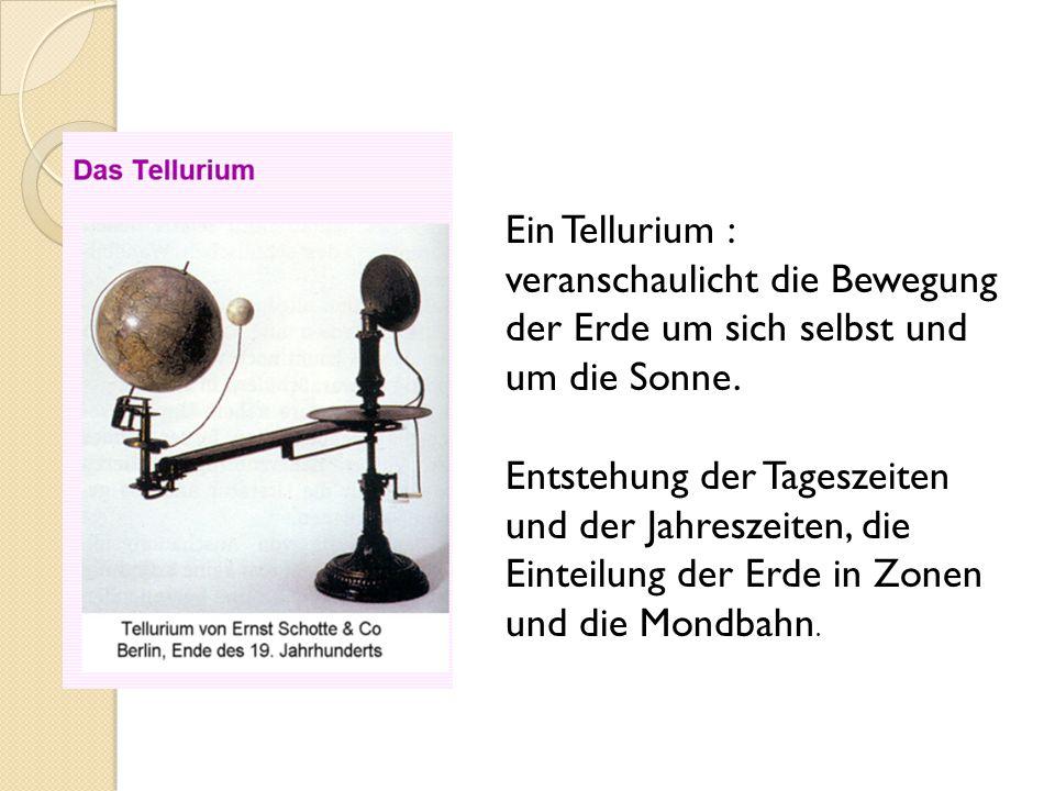 Ein Tellurium : veranschaulicht die Bewegung der Erde um sich selbst und um die Sonne.