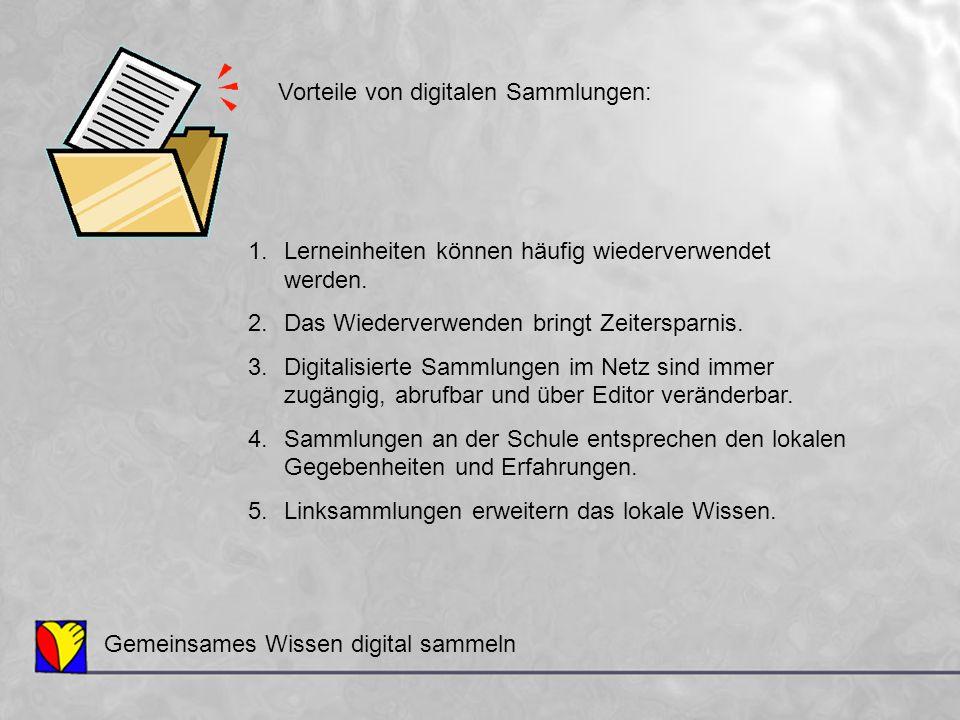 Gemeinsames Wissen digital sammeln 6.