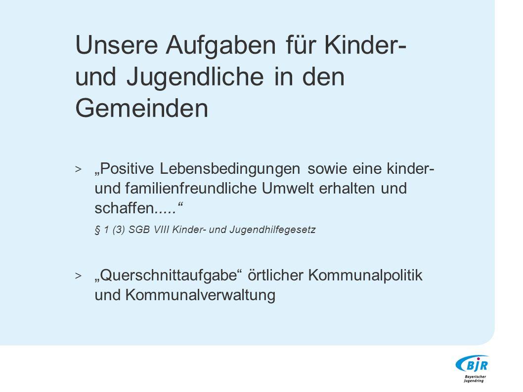 """Gesetzliche Grundlagen: Bundesgesetz: SGB VIII, Kinder- und Jugendhilfegesetz § 12 KJHG: Förderung der Jugendverbände (1) """"Die eigenverantwortliche Tätigkeit der Jugendverbände und Jugendgruppen ist....zu fördern."""