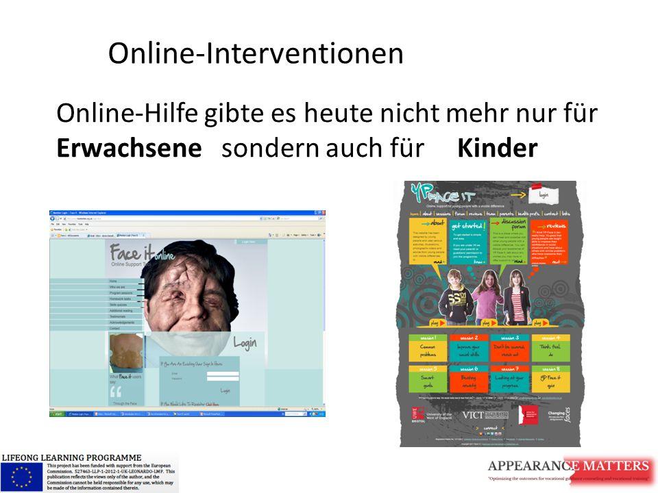 Online-Hilfe gibte es heute nicht mehr nur für Erwachsene sondern auch für Kinder Online-Interventionen