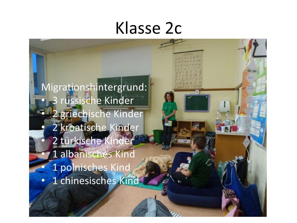 Migrationshintergrund: 3 russische Kinder 2 griechische Kinder 2 kroatische Kinder 2 türkische Kinder 1 albanisches Kind 1 polnisches Kind 1 chinesisc
