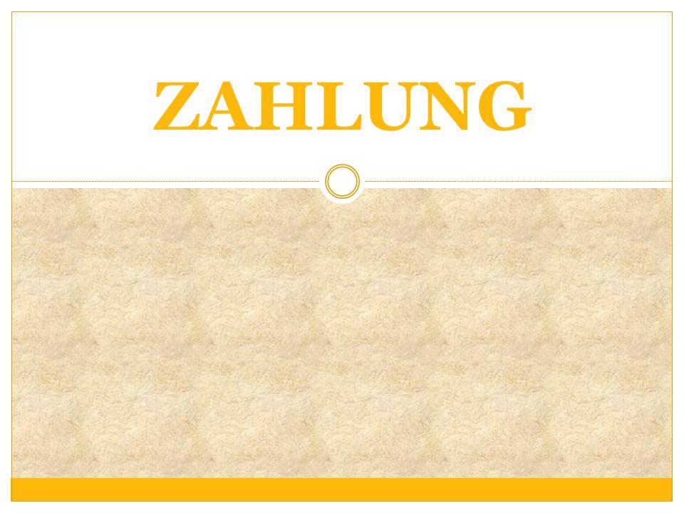 ZAHLUNG