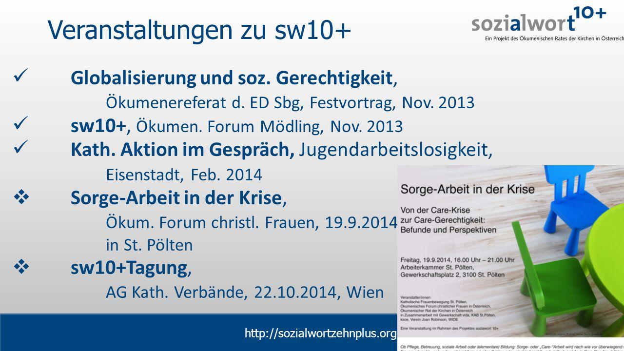 www.sozialwort.at Veranstaltungen zu sw10+ Globalisierung und soz.