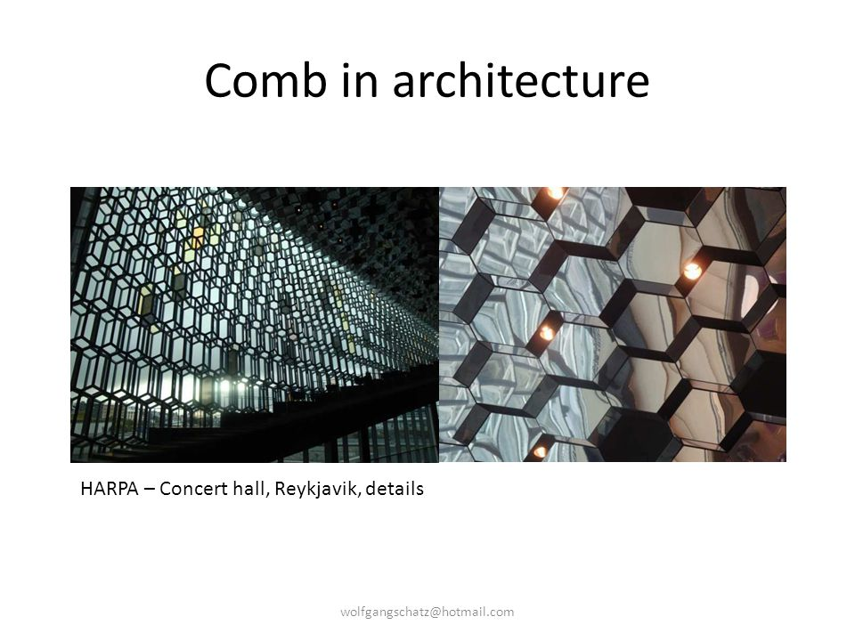 Comb in architecture HARPA – Concert hall, Reykjavik, details wolfgangschatz@hotmail.com