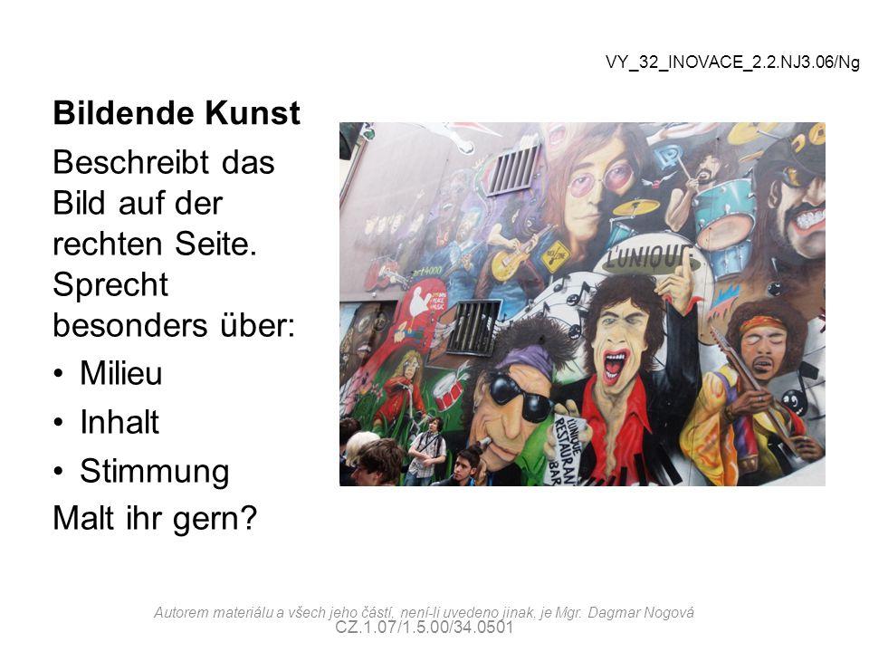 Musik Musikarten: Klassik Jazz Pop Rock Metall Folk Volksmusik Andere VY_32_INOVACE_2.2.NJ3.06/Ng Autorem materiálu a všech jeho částí, není-li uvedeno jinak, je Mgr.
