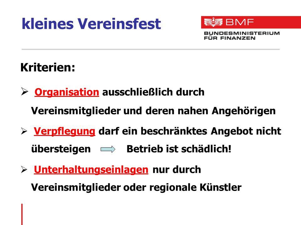 kleines Vereinsfest  Beachtlicher Zeitraum: max.