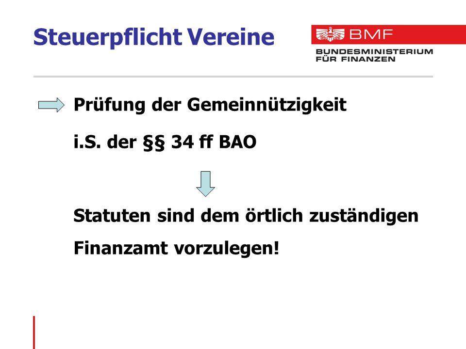 Steuerpflicht Vereine Prüfung der Gemeinnützigkeit i.S.