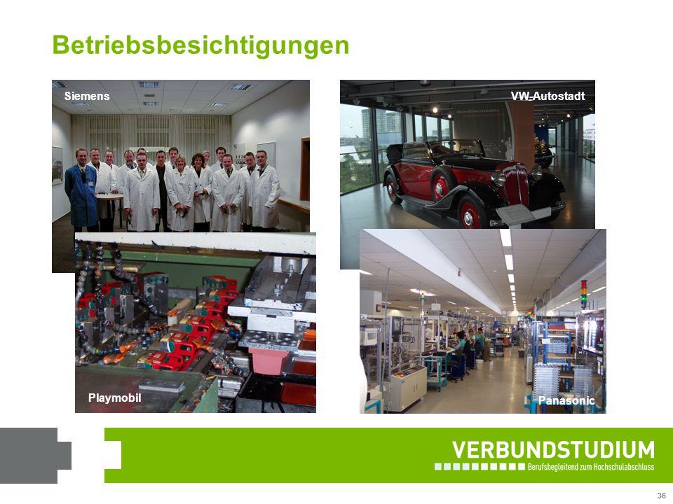 36 SiemensVW-Autostadt Playmobil Panasonic Betriebsbesichtigungen