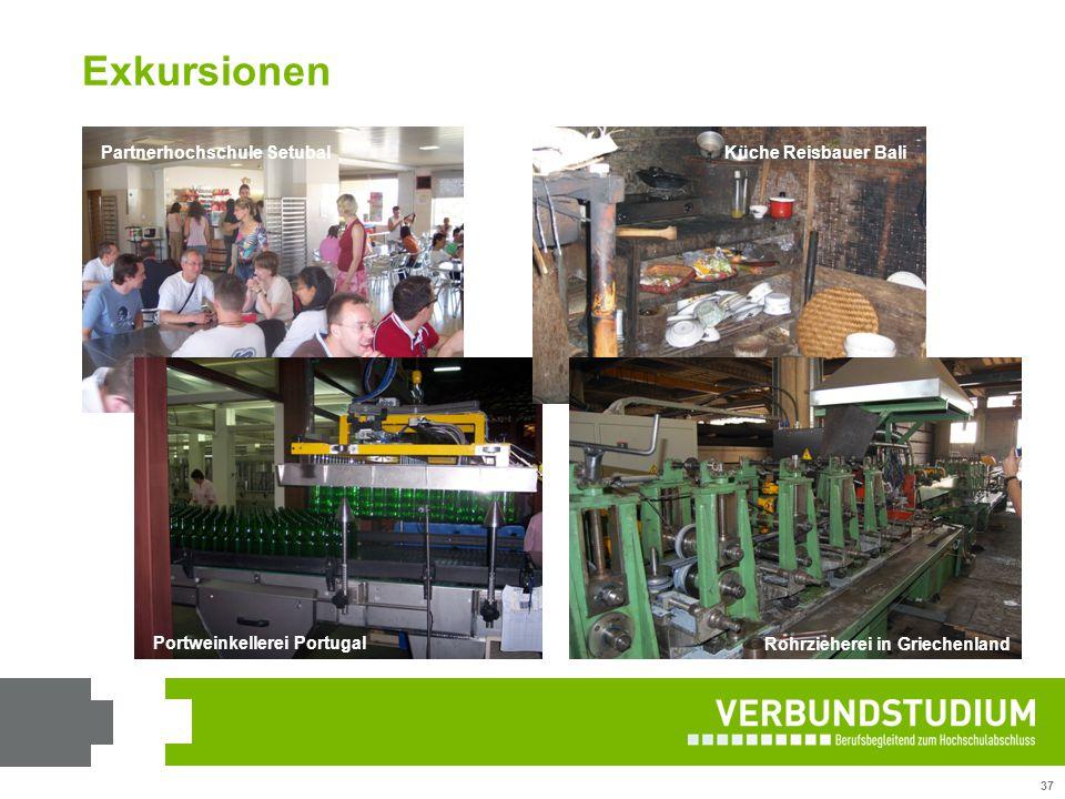 37 Partnerhochschule Setubal Portweinkellerei Portugal Küche Reisbauer Bali Rohrzieherei in Griechenland Exkursionen