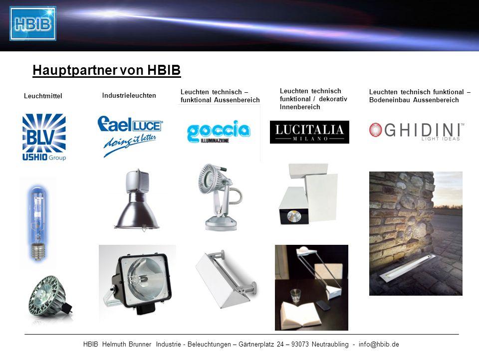 Hauptpartner von HBIB HBIB Helmuth Brunner Industrie - Beleuchtungen – Gärtnerplatz 24 – 93073 Neutraubling - info@hbib.de Leuchtmittel Industrieleuch