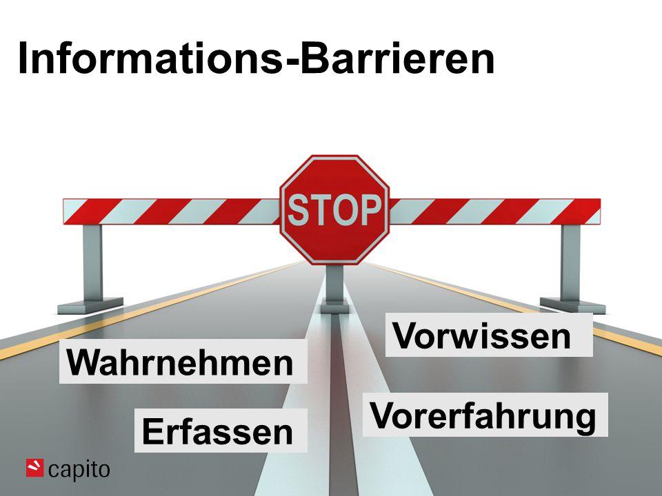 Informations-Barrieren Wahrnehmen Vorwissen Vorerfahrung Erfassen