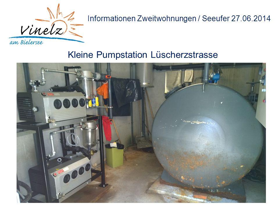 Informationen Zweitwohnungen / Seeufer 27.06.2014 Kleine Pumpstation Lüscherzstrasse