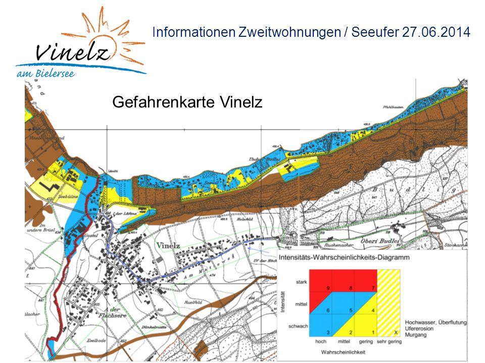 Informationen Zweitwohnungen / Seeufer 27.06.2014 Gefahrenkarte Vinelz