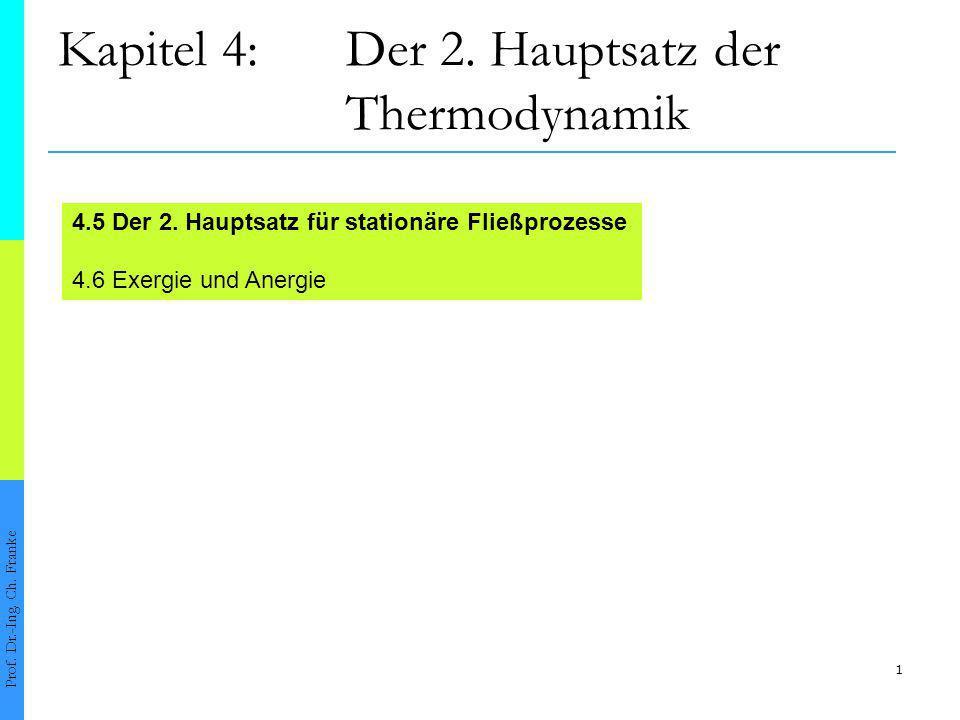 1 Kapitel 4:Der 2.Hauptsatz der Thermodynamik Prof.