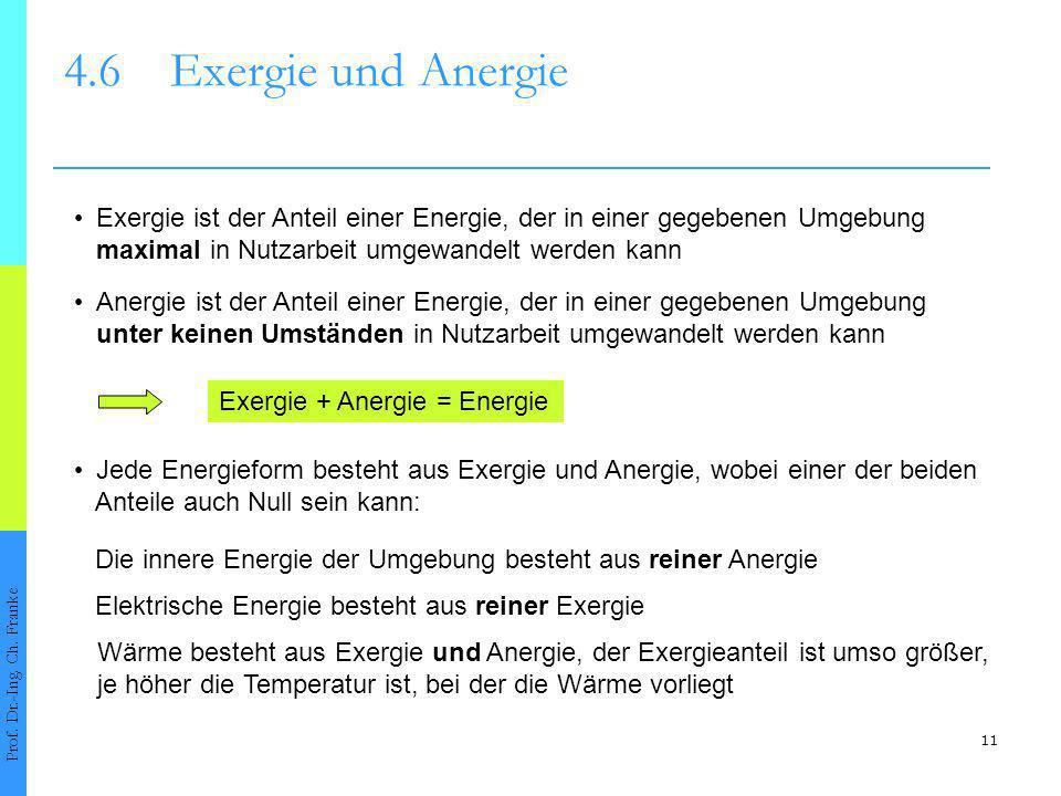 11 4.6Exergie und Anergie Prof.Dr.-Ing. Ch.