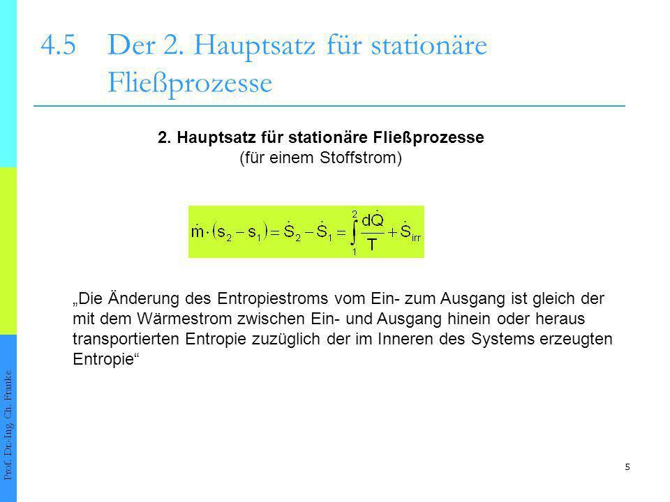 6 4.5Der 2.Hauptsatz für stationäre Fließprozesse Prof.