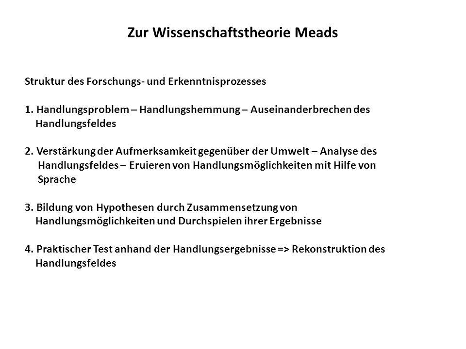 Zur Wissenschaftstheorie Meads Struktur des Forschungs- und Erkenntnisprozesses 1.