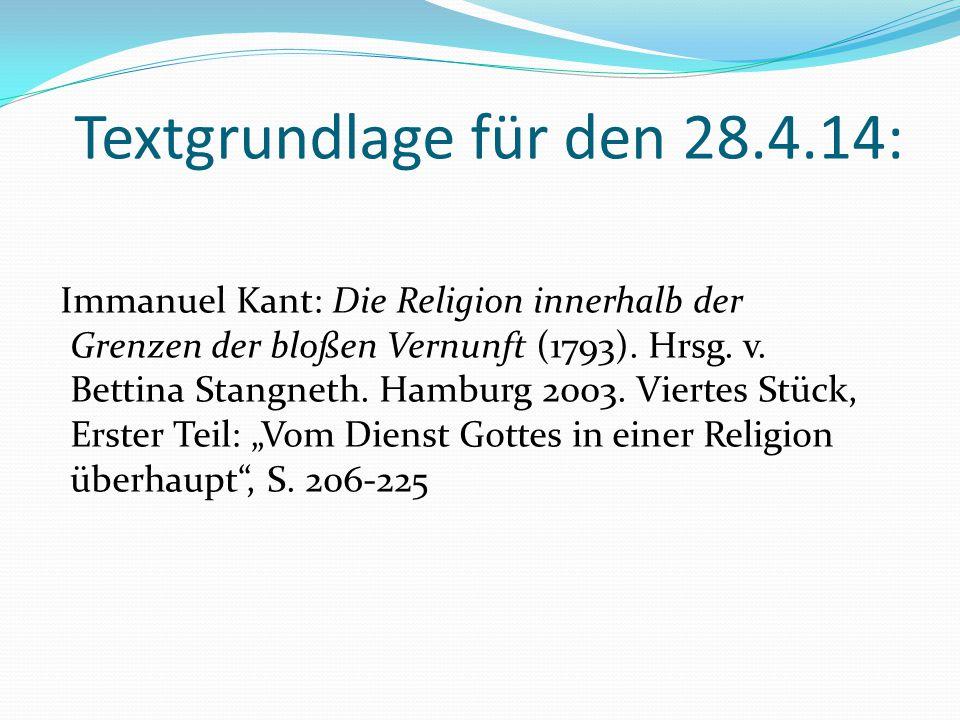 Zur Religionsphilosophie Kants (4) Religionspolitische Sanktionen gegen Kant Schreiben des preußischen Königs Friedrich Wilhelms II.