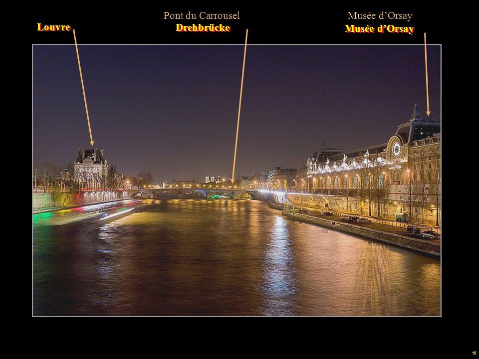 14 Bajando por la rivera del Sena vemos algunos de los edificios que pretendían dinamitar. La Conciergerie Die Uhr des viereckigen Turmes Pont au Chan