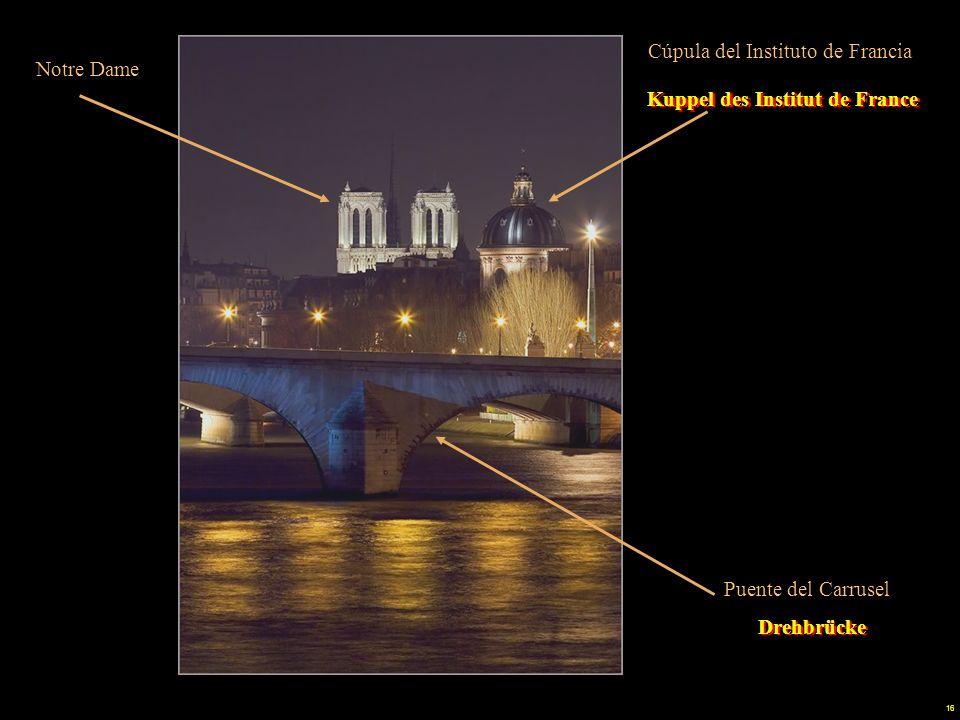 15 Louvre Pont du Carrousel Musée d'Orsay Drehbrücke Musée d'Orsay