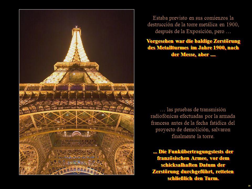 30 En el estudio de Gustav Eiffel, cuya actividad principal era el diseño de viaductos y líneas de ferrocarril, fue elaborado el diseño de la torre que lleva su nombre.