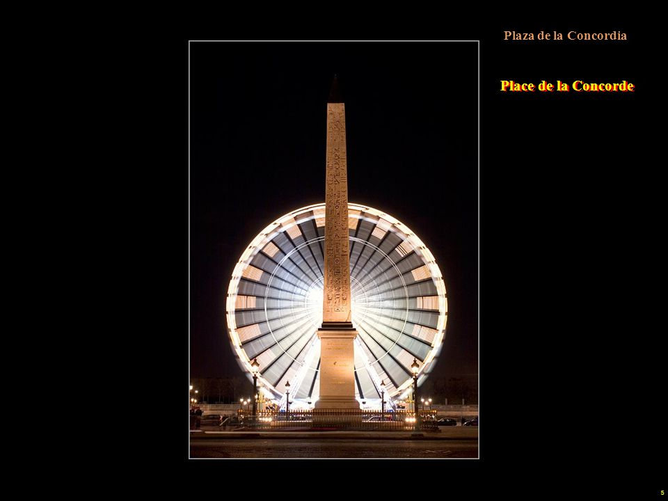 """4 Fuente de la Plaza de la Concordia Buen ejemplo del """"clasicismo"""" es la place de la Concorde, diseñada por Gabriel en 1757. Ocupó su centro la estatu"""
