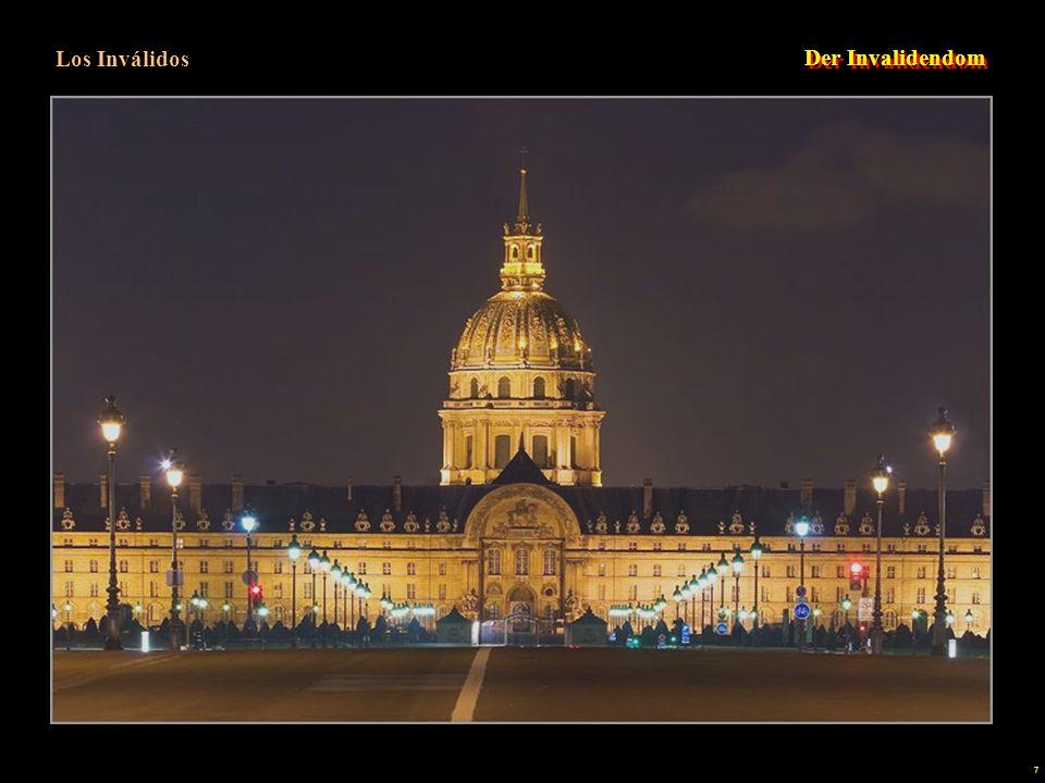 6 Este vasto conjunto de edificios que comprende el Hôtel des Invalides se extiende entre la place Vauban y la Explanada de los Inválidos. Toda esta c