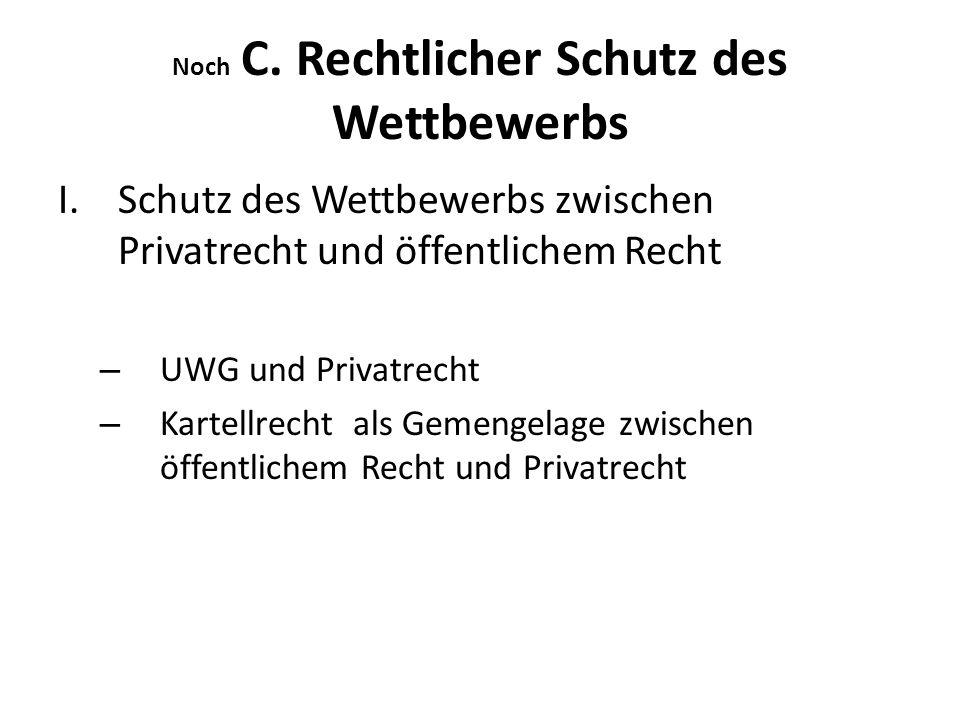 Noch C.Rechtlicher Schutz des Wettbewerbs II.