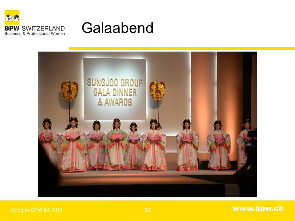 www.bpw.ch Galaabend Congrès BPW Int. 201420