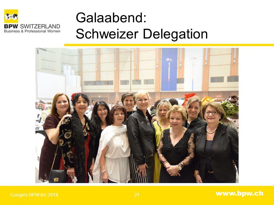 www.bpw.ch Galaabend: Schweizer Delegation Congrès BPW Int. 201421