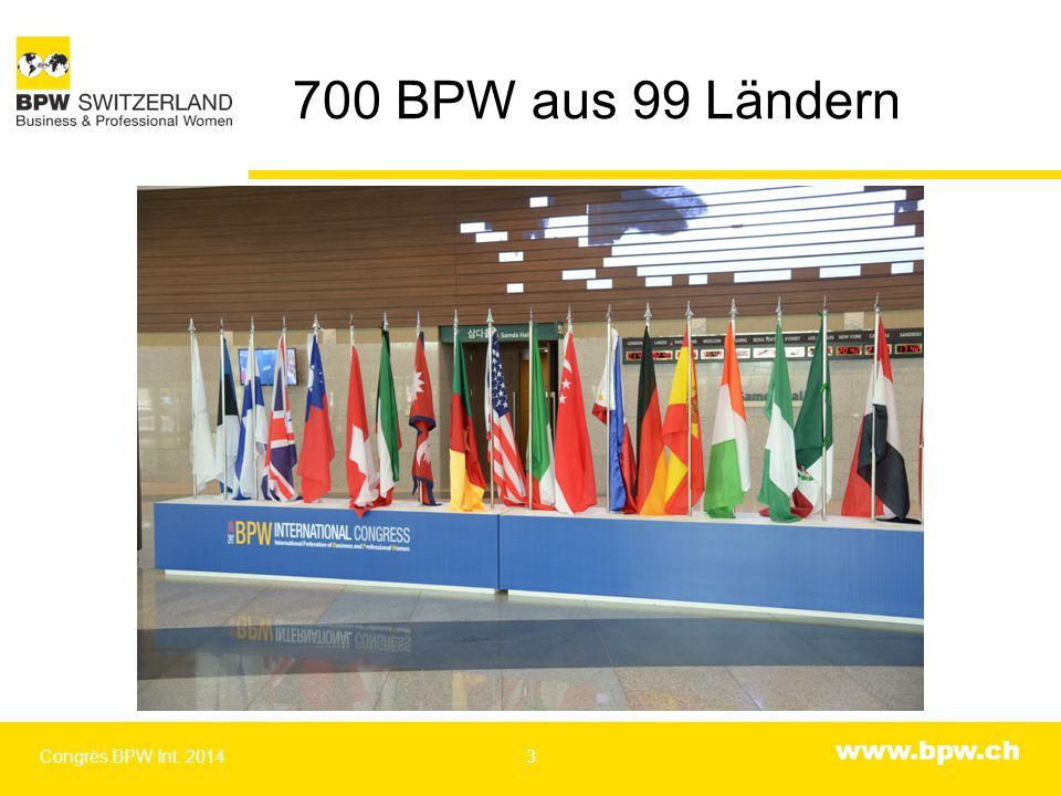 www.bpw.ch Generalversammlung Congrès BPW Int. 20144