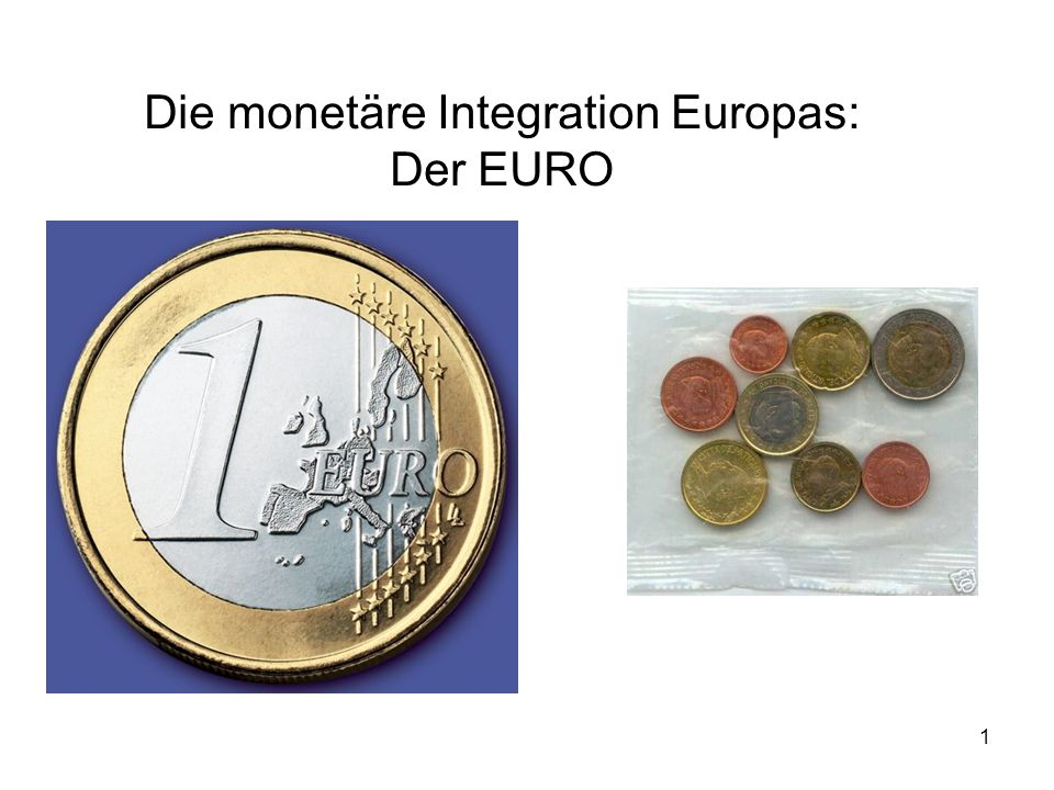"""2 EURO: Währung der Europäischen Währungsunion Eingeführt am 1.1.1999 als """"Buchgeld ."""
