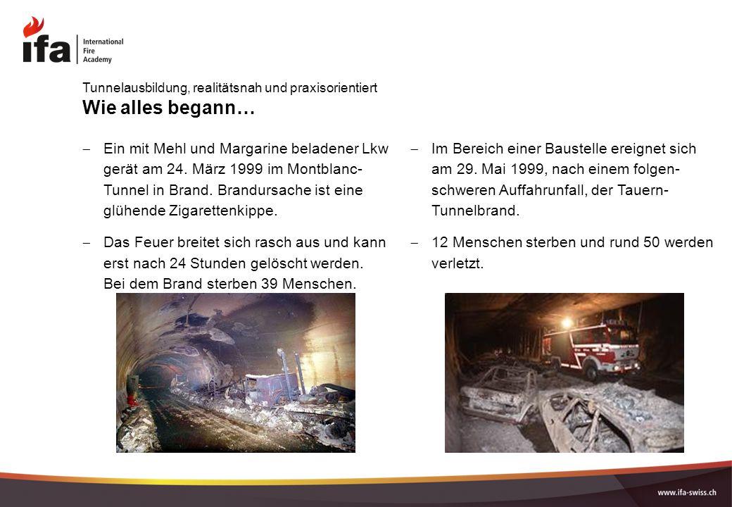 Wie alles begann…  Im Bereich einer Baustelle ereignet sich am 29. Mai 1999, nach einem folgen- schweren Auffahrunfall, der Tauern- Tunnelbrand.  12
