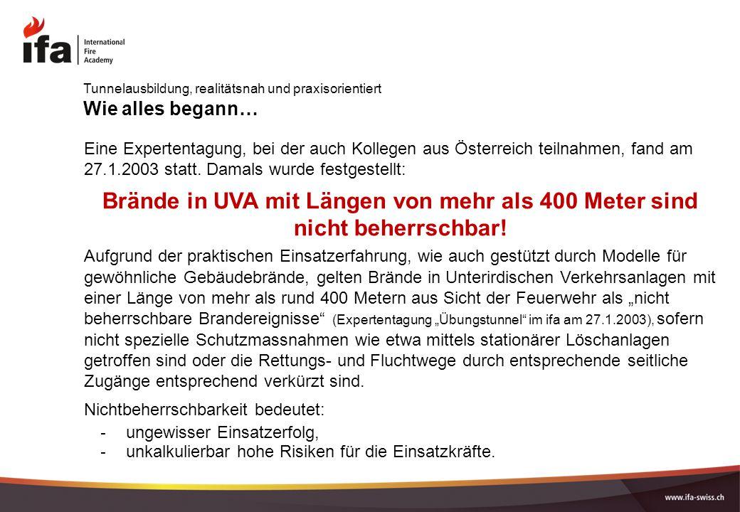 Wie alles begann… Eine Expertentagung, bei der auch Kollegen aus Österreich teilnahmen, fand am 27.1.2003 statt. Damals wurde festgestellt: Brände in