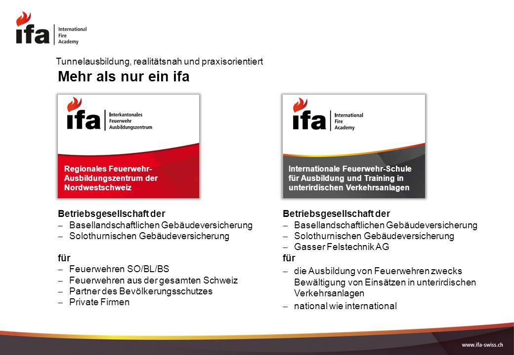 Mehr als nur ein ifa Betriebsgesellschaft der  Basellandschaftlichen Gebäudeversicherung  Solothurnischen Gebäudeversicherung für  Feuerwehren SO/B