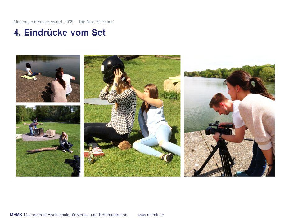 """MHMK Macromedia Hochschule für Medien und Kommunikationwww.mhmk.de Macromedia Future Award """"2039 – The Next 25 Years"""" 4. Eindrücke vom Set"""