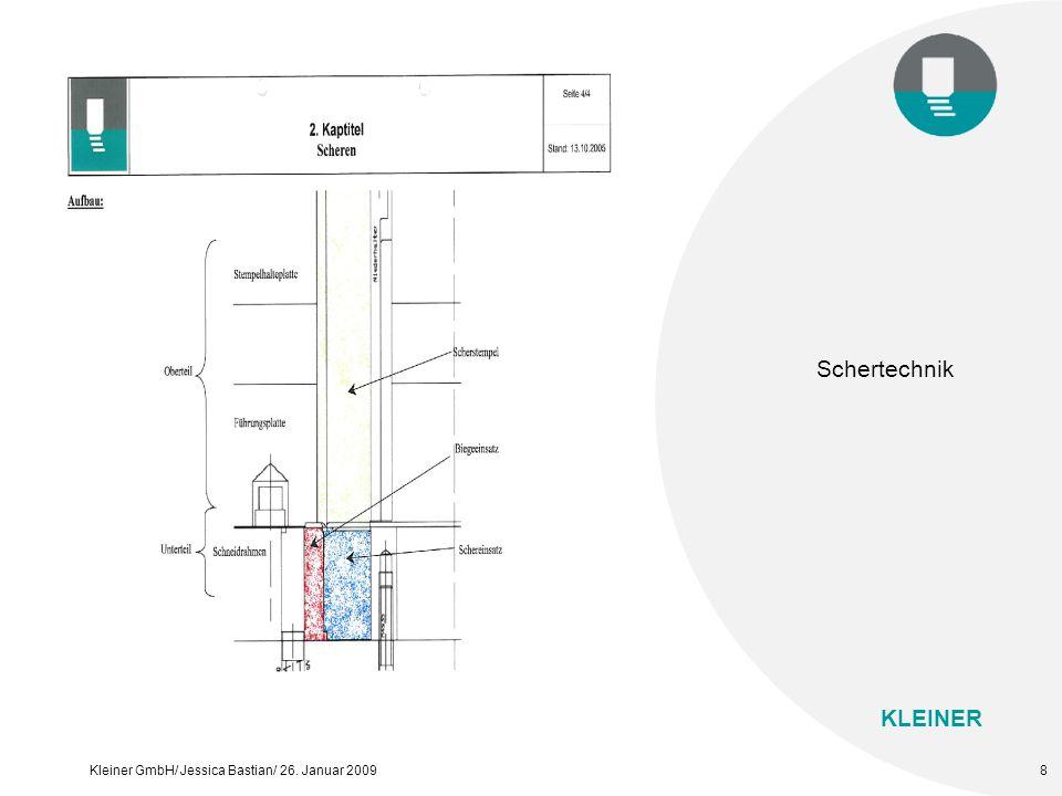 KLEINER Kleiner GmbH/ Jessica Bastian/ 26. Januar 20098 Schertechnik