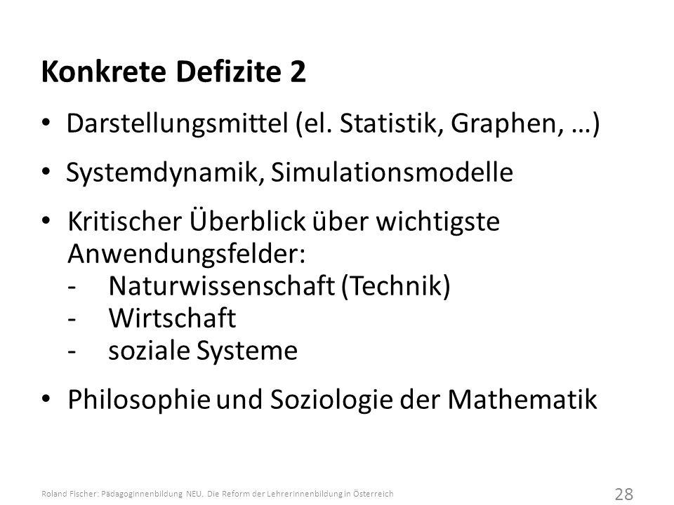 Konkrete Defizite 2 Darstellungsmittel (el.