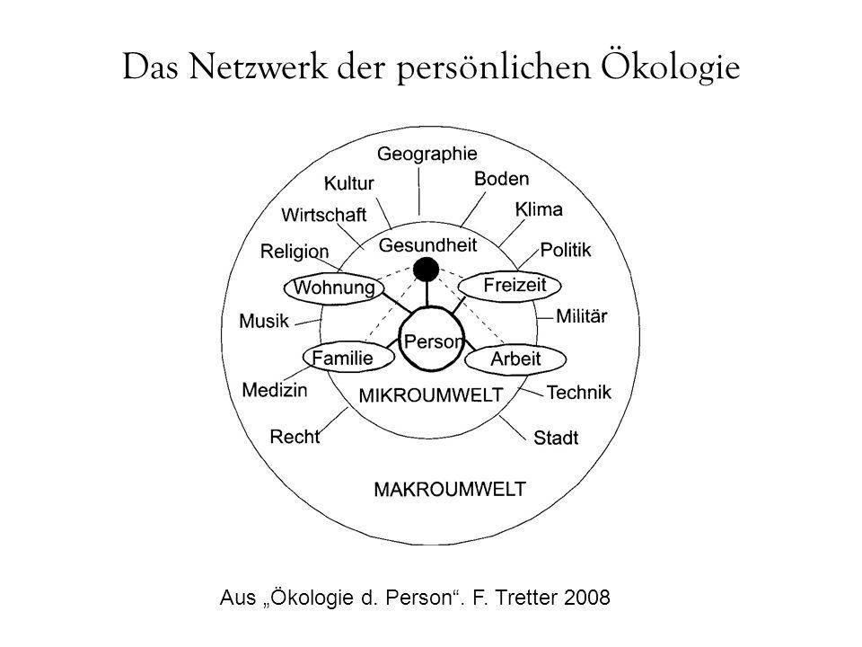 """Das Netzwerk der persönlichen Ökologie Aus """"Ökologie d. Person"""". F. Tretter 2008"""