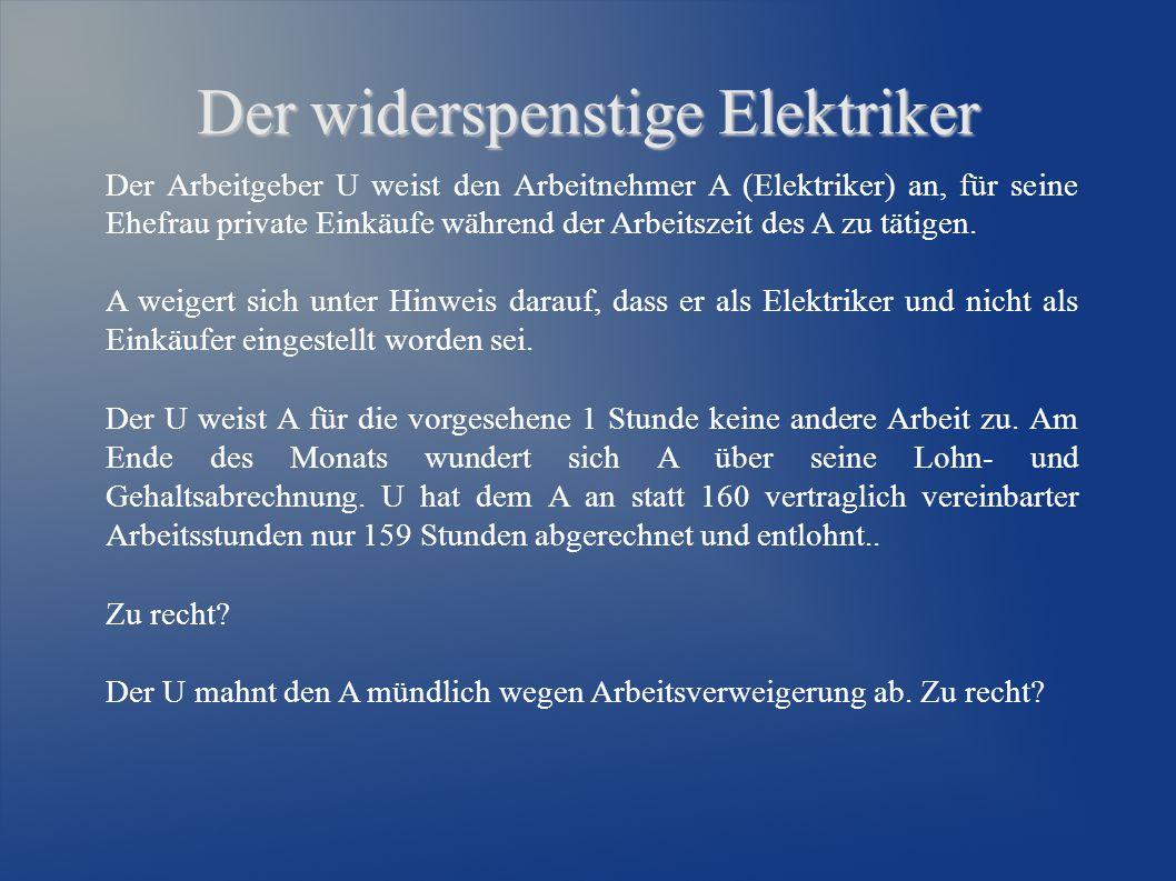 Lösungsvorschlag Fall 1 a) Der U schuldet dem A Vergütung im vereinbarten Rahmen.