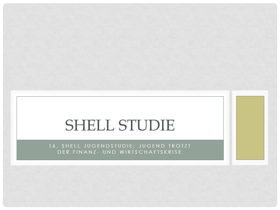 16. SHELL JUGENDSTUDIE: JUGEND TROTZT DER FINANZ- UND WIRTSCHAFTSKRISE SHELL STUDIE