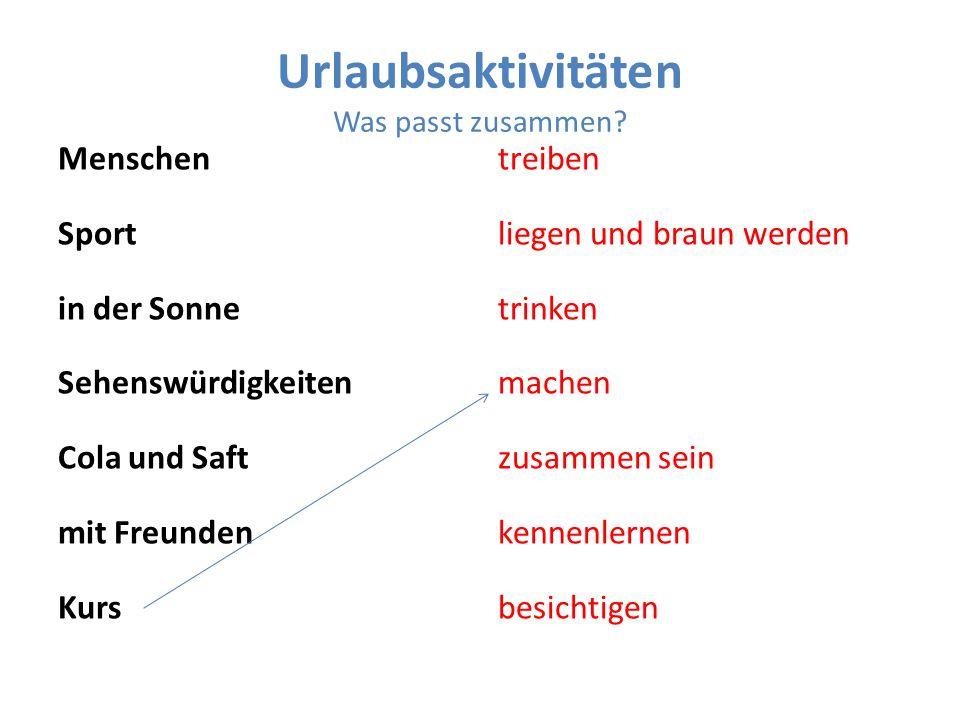 Partnerarbeit Eine Urlaubsreise Planen 1.Freund(in) 2.Freund(in) 3.Freund(in)