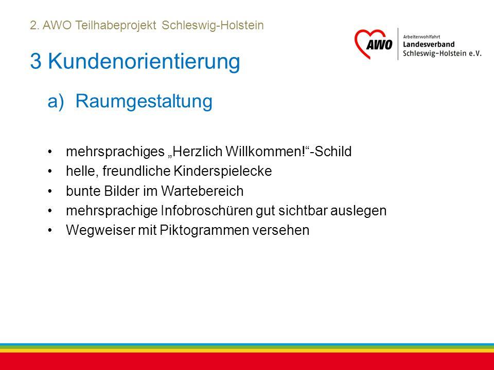 """Kiel, Juli 2012 2. AWO Teilhabeprojekt Schleswig-Holstein 3 Kundenorientierung a)Raumgestaltung mehrsprachiges """"Herzlich Willkommen!""""-Schild helle, fr"""