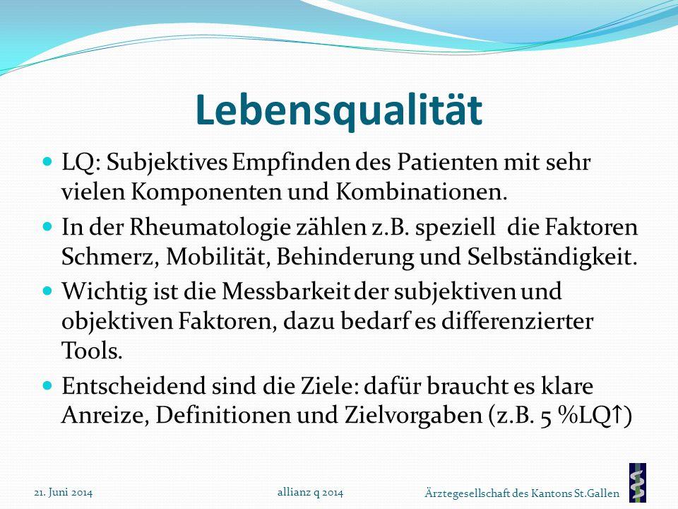 Ärztegesellschaft des Kantons St.Gallen Lebensqualität 21. Juni 2014allianz q 2014