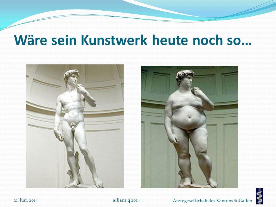 Ärztegesellschaft des Kantons St.Gallen Wäre sein Kunstwerk heute noch so… 21. Juni 2014allianz q 2014