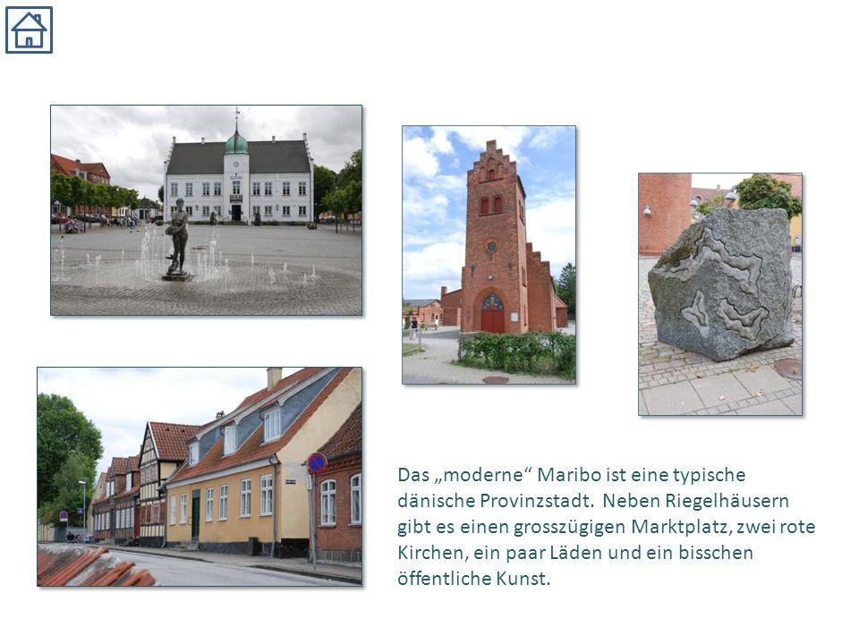 """Das """"moderne"""" Maribo ist eine typische dänische Provinzstadt. Neben Riegelhäusern gibt es einen grosszügigen Marktplatz, zwei rote Kirchen, ein paar L"""