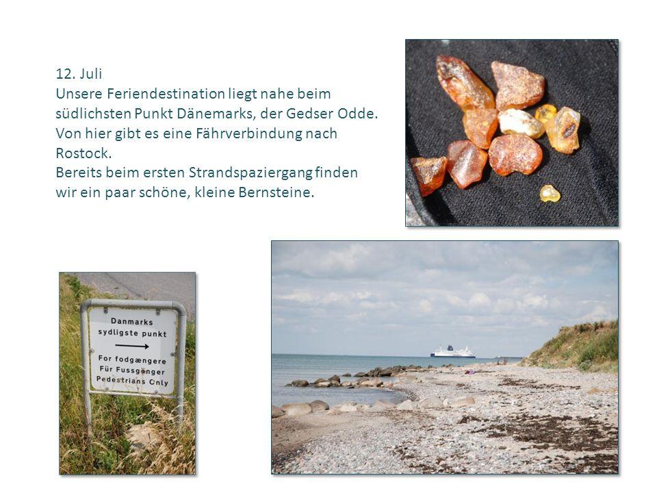 12. Juli Unsere Feriendestination liegt nahe beim südlichsten Punkt Dänemarks, der Gedser Odde. Von hier gibt es eine Fährverbindung nach Rostock. Ber